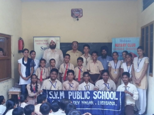 Dental Awareness seminar at SVM School samrala chowk